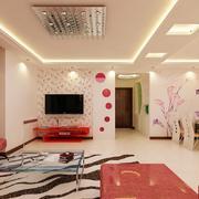 甜美粉色微晶石背景墙