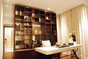 单身公寓浓墨气息小书房装修效果图