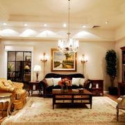 美式风格原木深色家居设计