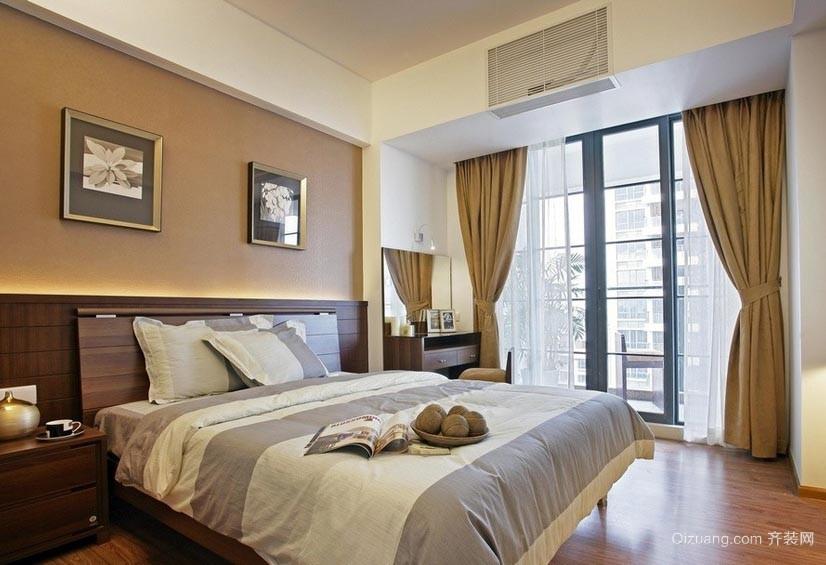 格调高贵的28平米卧室窗帘装修效果图