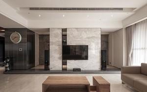 客厅素雅的微晶石背景墙