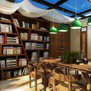 美式混搭风格阳台书房设计