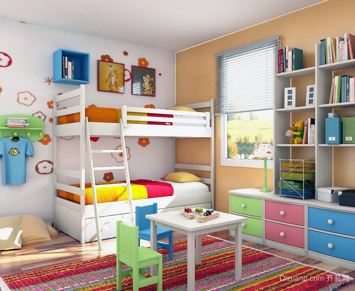 现代大户型精美儿童房设计装修效果图