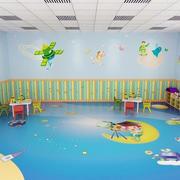 幼儿园壁画装修整体图