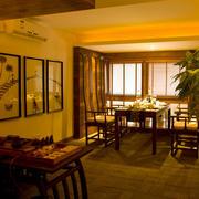 东南亚风格会所餐厅背景墙装饰