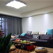 客厅窗帘装修吊灯图