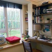 小书房装修窗帘图