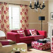 红色前卫的窗帘
