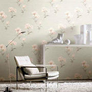 欧式简约田园风格清爽客厅壁纸设计