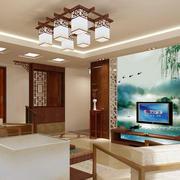 传统型电视背景墙