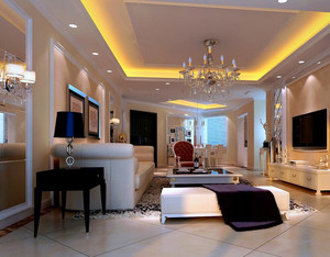 122平米素雅型客厅装修效果图