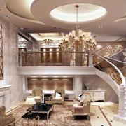 欧式奢华别墅客厅楼梯装修