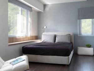 美式简约风格卧室简约实木地板装饰