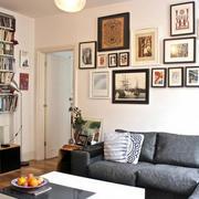 简约风格美式客厅照片墙