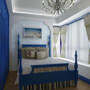 地中海风格卧室背景墙装修图片