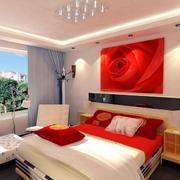 婚房卧室床头玫瑰装饰