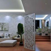 客厅隔断屏风装修灯光设计