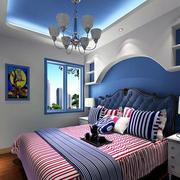 地中海风格卧室背景墙装修飘窗图