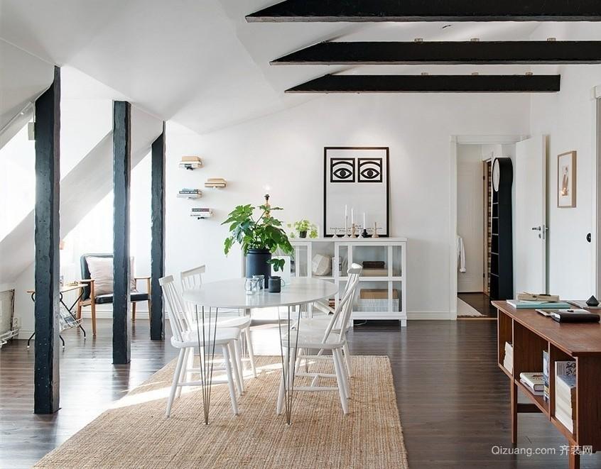 简洁亮丽的北欧风格小别墅装修设计