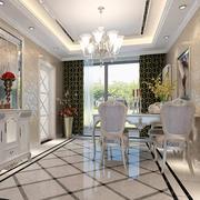 欧式奢华风格餐桌装饰