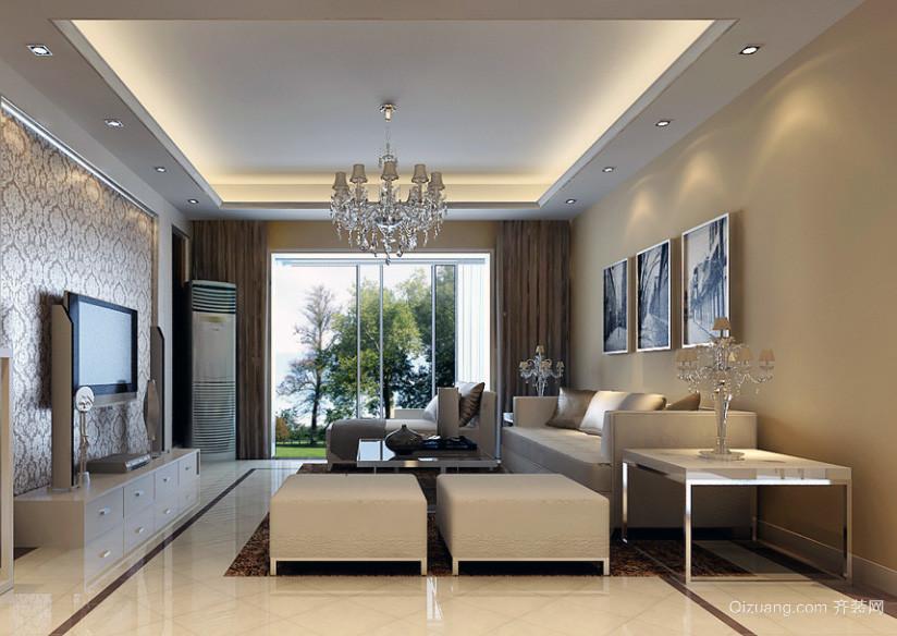 时尚小户型简欧家具客厅装修效果图