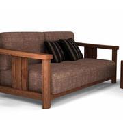 简约风格原木深色沙发装饰