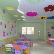 幼儿园教室布置设计吊顶图