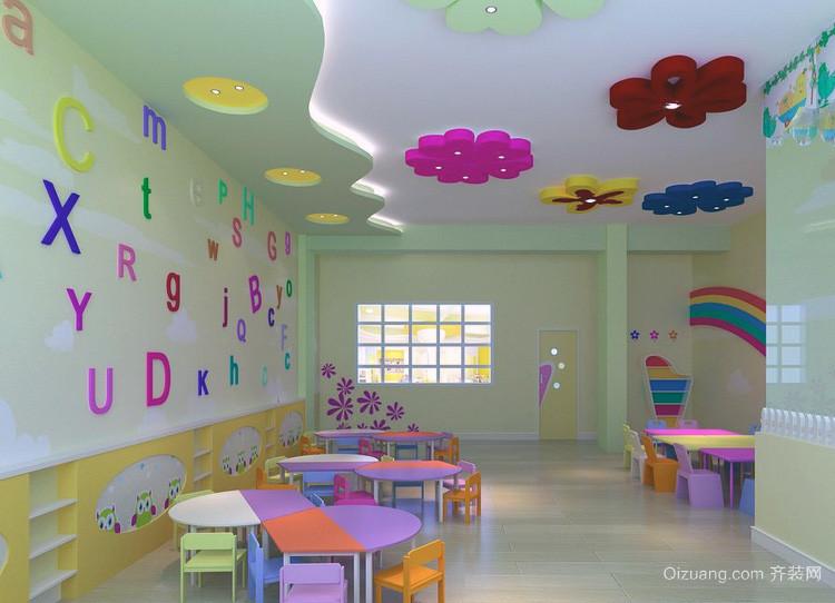 幼儿园教室布置设计吊顶图图片