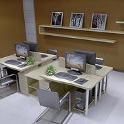 现代简约风格办公室置物架装饰
