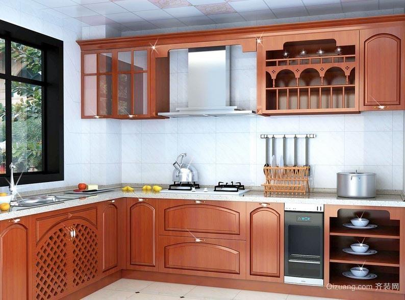 美式醒目的20平米厨房橱柜设计效果图
