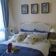 地中海风格卧室背景墙装修色调搭配