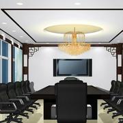 写字楼小型会议室紫色