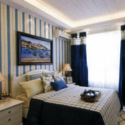 地中海风格卧室背景墙装修灯光设计