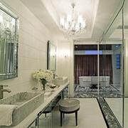 欧式简约风格浴室吊顶设计
