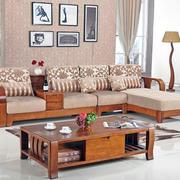 中式原木客厅沙发装修
