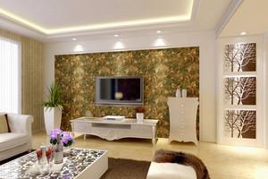 单身公寓现代风格电视背景墙设计效果图