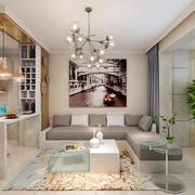现代简约风格客厅沙发背景墙
