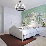 地中海风格卧室背景墙装修造型图