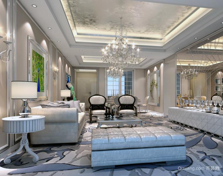 现代大户型欧式客厅吊顶设计效果图