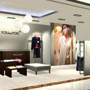 欧式简约风格服装店吧台设计
