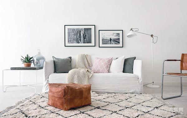 视觉艺术:北欧式108平米公寓式住宅装修图例