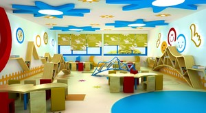 颜色亮丽的教室