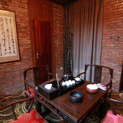 茶馆背景墙效果图片