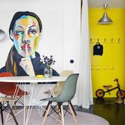 公寓内简洁而优雅的客厅
