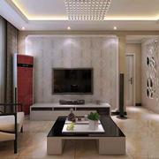 现代简约风格客厅石膏板背景墙