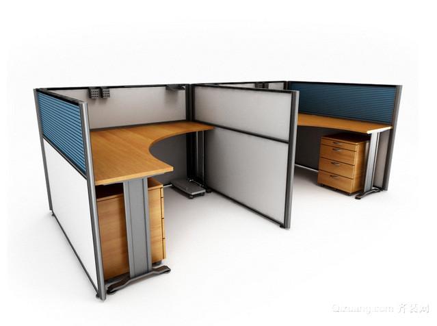 2015全新办公装修办公室桌椅装修效果图