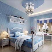 地中海风格卧室背景墙装修整体图