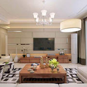 现代简约风格客厅桌椅设计