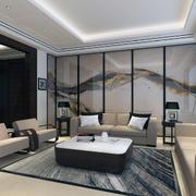 中式室内装修设计背景墙图