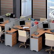 多人整体办公桌装饰